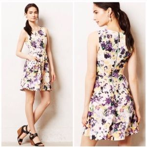Anthropologie Maeve Neon Floral Dress - Size 4